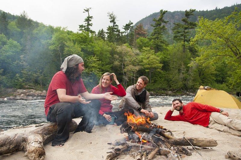 Summer canoe tripping wilderness adventure